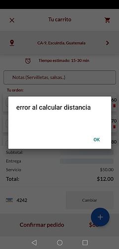 error distancia